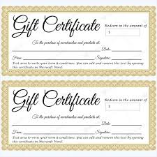 gift certificate 30 word layouts