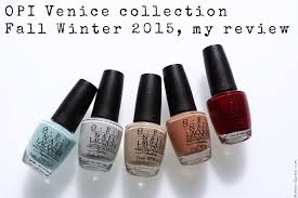 opi venice collection fall winter 2016