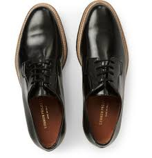 crepe sole leather derby shoes