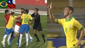 Gols e Confusão | Brasil 3 x 1 Chile - Amistoso Sub-23 - YouTube