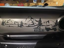 Jeep Jl 1941 Willys Mountain Dashboard Scene Vinyl Decal