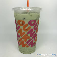 review dunkin iced matcha latte the