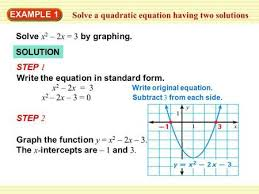 example 1 solve a quadratic equation