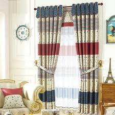 American Style Blackout Curtain Print With Star Pattern For Kids Bedroom
