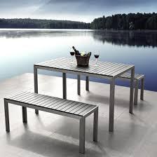 garden furniture bench dining table set