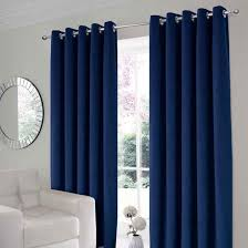 velour navy thermal eyelet curtains