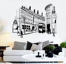 Vinyl Wall Decal England London Street Uk English Decor Stickers Mural Unique Gift Ig3654 English Decor Vinyl Wall Decals English Country Decor