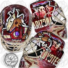 Adin Hill brings the desert to the ice with new mask | InGoal Magazine