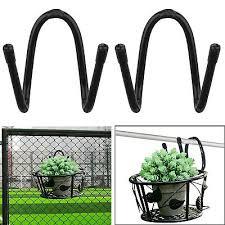 2x Universal Adjustable Garden Wall Fence Hanging Pot Basket Planter Hook Holder Ebay