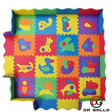 Baby Play Mat With Fence 36 Colorful Animal Puzzles Interlocking Safety Foam Tiles 57x57 Inches For Crawling Floor Play Baby Play Mat Play Mat Foam Tiles