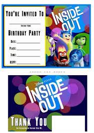 Fiesta De Del Reves O Inside Out Invitaciones Y Tarjetas Para