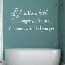 Bathroom Wall Quotes Decals Vwaq Com Vinyl Wall Art Quotes