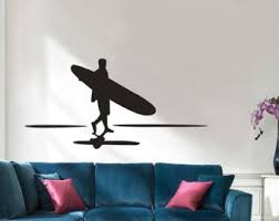 Surfer Wall Decal Surfing Decal Boys Name By Wallapaloozadecals Boys Wall Decals Sports Wall Decals Boys Wall Decor