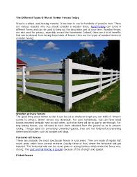 The Different Types Of Rural Timber Fences Today