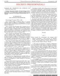 In Gazzetta Ufficiale il decreto della Presidenza del Consiglio ...
