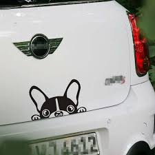 New Car Sticker Reflective Waterproof Fashion Funny Peeking Dog Car Stickers And Decals On Car Window Door Wish