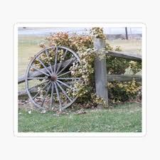 Wagon Wheel On A Split Rail Fence Beautiful Fall Photo Art Board Print By Jermo133 Redbubble