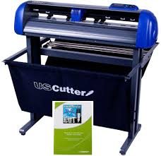 Amazon Com 28 Inch Uscutter Titan 2 Vinyl Cutter Plotter With Stand Basket And Design And Cut Software Arts Crafts Sewing