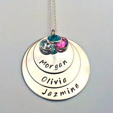 personalised layered necklace stacked