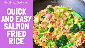 How To Make Salmon Fried Rice - YouTube