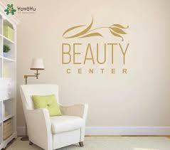 Yoyoyu Wall Decal Girls Beauty Center Vinyl Wall Stickers Spa Salon Logo Window Decals Art Removable Flower Pattern Design Sy920 Wall Stickers Aliexpress