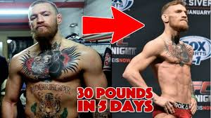 how mma fighters lose 30 pounds in 5