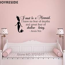 Mermaid Little Quotes Wall Decal Wall Sticker Home Girls Bedroom Wall Stickers Mermaids I Have To Be Mermaid Wall Mural M262 Wall Stickers Aliexpress