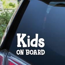 Kids On Board Sticker Baby Child Children Car Decal Window Bumper Sign Ebay