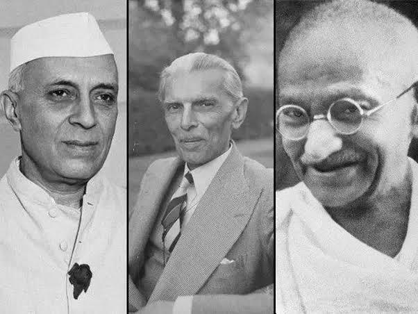 Image result for gandhi jinnah nehru