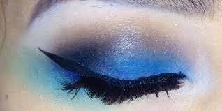 blue edm rave makeup tutorial edm dj