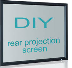 diy rear projection screen material