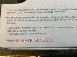 Motorola Travelfence50 Wireless Dog Fence Remote Training Collar Portable Talk Electronic Fences Pet Supplies