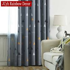 Geometric Blackout Curtains For Living Room Children Kids Bedroom Window Modern Child Blackout Curtain Drapes Pattern Shading Curtains Aliexpress