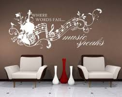 Music Wall Decals Etsy