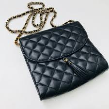 bags vintage quilted leather bag with