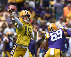 LSU QB Myles Brennan leads the Tigers with explosive pass plays; 'I'm  excited about where he is'   LSU   theadvocate.com