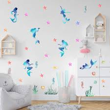 Beautiful Mermaid Wall Sticker Starfish Buy Online In Colombia At Desertcart