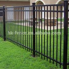 2017 New Design Black Color Aluminum Zinc Steel Picket Fence Panel Modern Ornamental Wrought Iron Fencing And Gate Buy Decorative Wrought Iron Fence Panels Cheap Wrought Iron Fence Panels For Sale Antique Wrought Iron