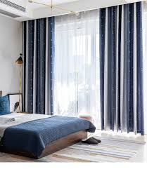 2020 Navy Shiny Stars Jacquard Children Cloth Curtains For Kids Bedroom Living Room Coffee Blackout Cortinas Panels Jk126y From Hibooth 32 36 Dhgate Com