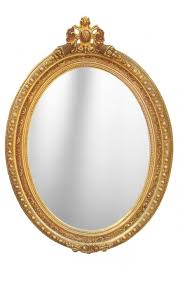 baroque mirror oval style of louis xvi