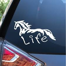 Horse Life Horse Window Decal Stickers Custom Sticker Shop