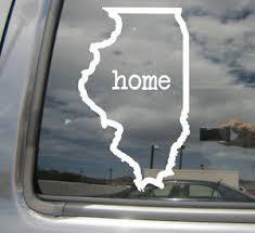 Illinois Home State Outline Wy Usa America Car Vinyl Die Cut Decal Sticker 07043 Ebay