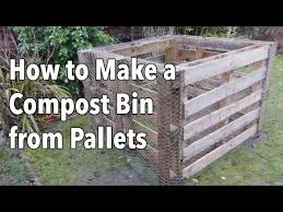 How To Make A Compost Bin From Pallets Youtube