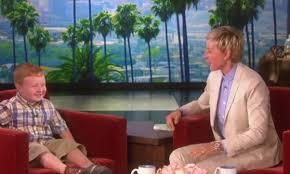 Ellen DeGeneres meets 'Apparently' kid Noah Ritter (VIDEO) : Funny :  BOOMSbeat