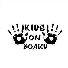 15cm 7cm Kids On Board Vinyl Personality Car Sticker Motorcycle Sticker Decal Removable Waterproof Wish