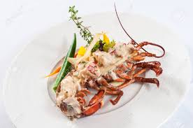 Baked Lobster With Cheese Stock Photo ...