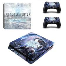 Monster Hunter World Iceborne Ps4 Slim Skin Sticker Decal For Playstation 4 Console And Controller Ps4 Slim Skins Stickers Vinyl Stickers Aliexpress
