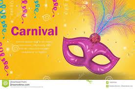 Cartel Brillante Del Carnaval Invitacion Tarjeta De Felicitacion
