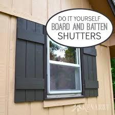 board and batten shutters an easy diy