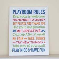 Playroom Rules Canvas Art Kids Room Decor Papermints